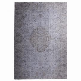 Vintage recoloured rug color grey (208x306cm)