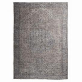Vintage umgefärbt teppich farbe grau (198x290cm)