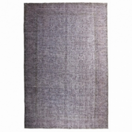 Vintage recoloured rug color grey (217x330cm)