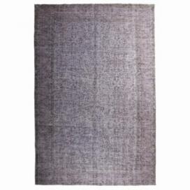 Vintage umgefärbt teppich farbe grau (217x330cm)