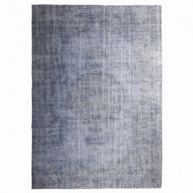 Vintage recoloured rug color blue (218x310cm)
