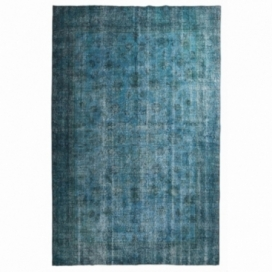 Vintage recoloured rug color turquoise (190x290cm)