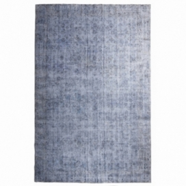 Vintage recoloured rug color blue (210x328cm)