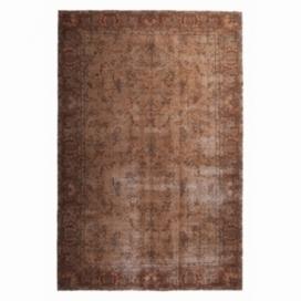 Vintage umgefärbt teppich farbe braun (193x293cm)