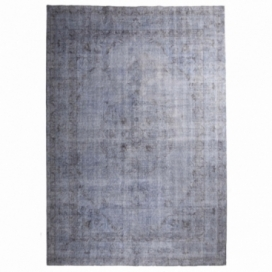 Vintage recoloured rug color blue (222x325cm)