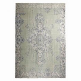Vintage umgefärbt teppich farbe grün (216x331cm)